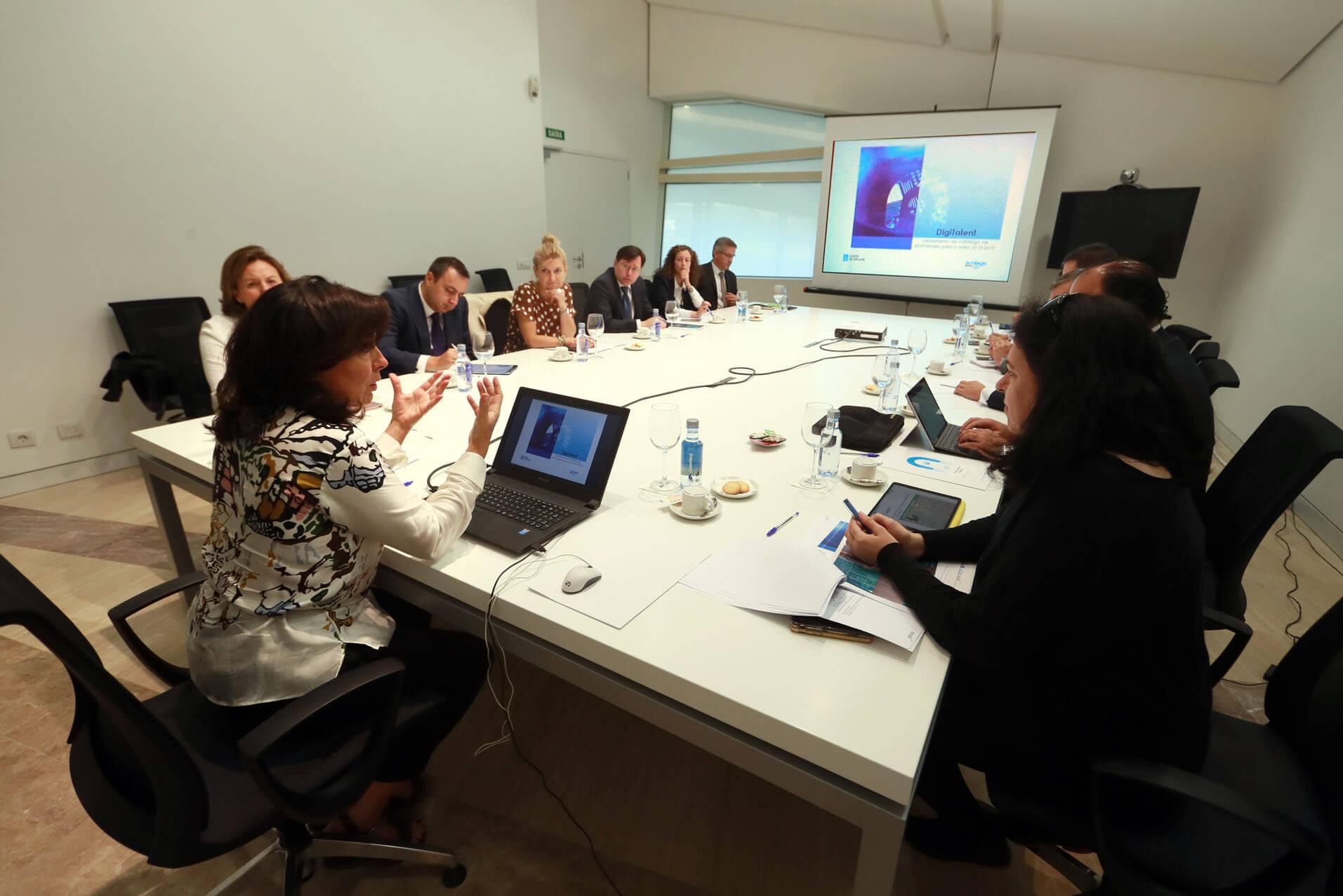 Reunión do Plan Digitalent.