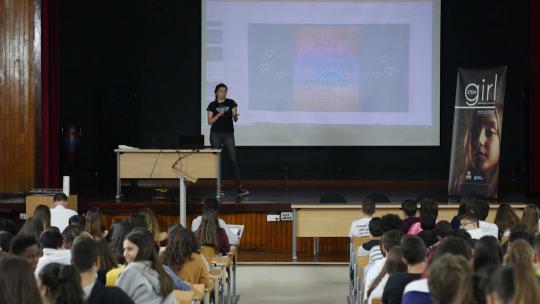 Yaiza Rubio en un momento de su charla.