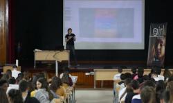 Yaiza Rubio nun momento da súa charla.